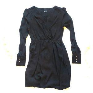 a89b33333134 Swell wrap dress women's black Medium